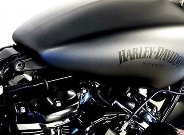 Peinture réservoir gris anthracite Logo Noir vernissage satiné  Harley Davidson  - FRENCH KHUSTOM by Art Mattwell's