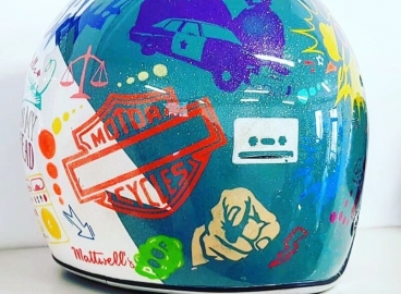 Personnalisation casque Pop art  - FRENCH KHUSTOM by Art Mattwell's