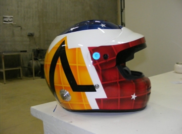 Peinture casque multi teintes  - FRENCH KHUSTOM by Art Mattwell's